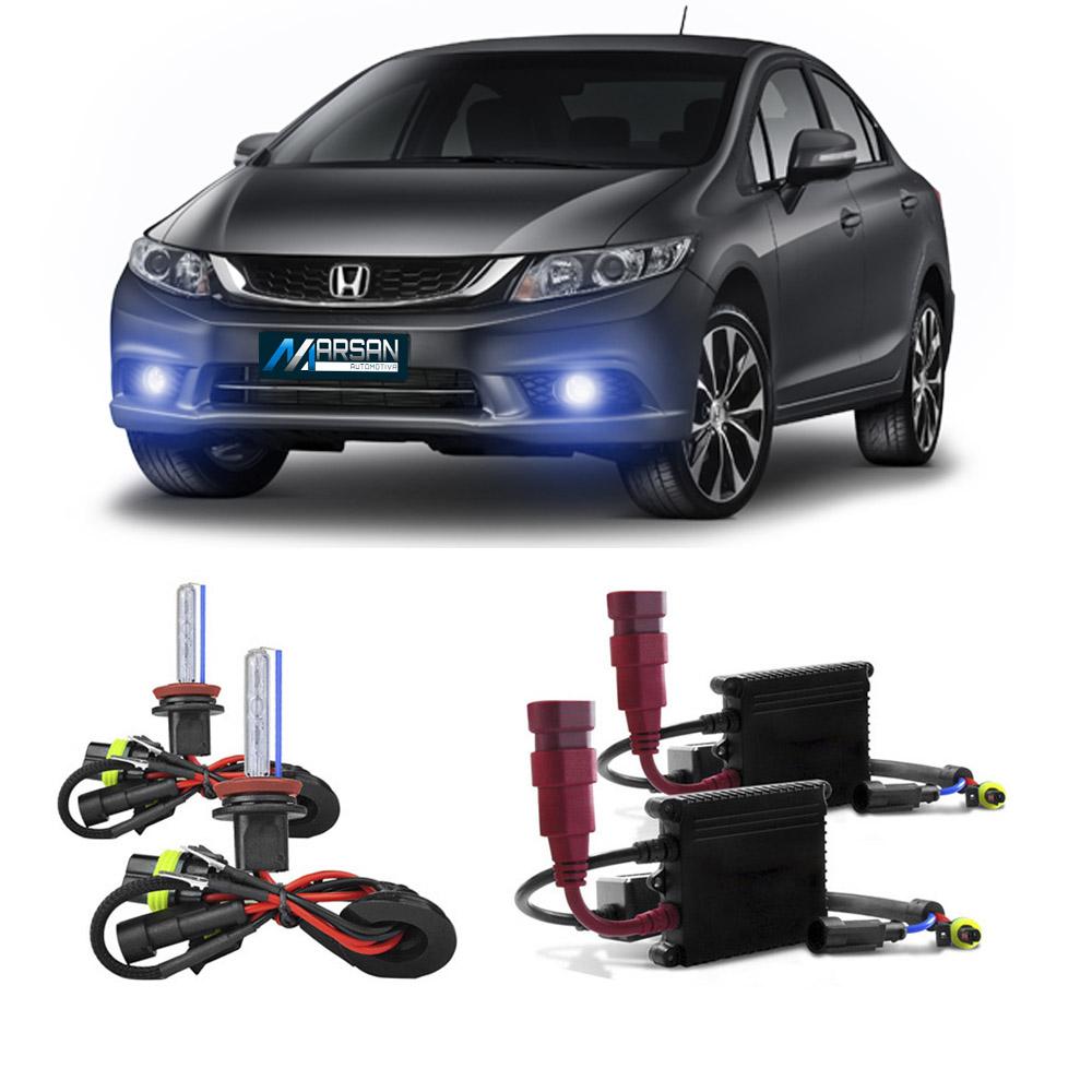 Kit Xenon H8 8000K Para Farol Milha Civic 2015 a 2016