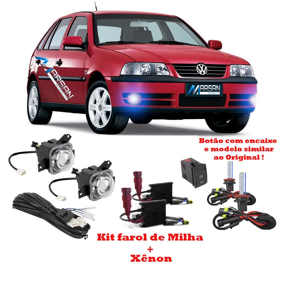 Kit Farol de Milha + Xenon 8000K Gol G3 2003 a 2005 Parati G3 2003 a 2005 Saveiro G3 2003 a 2005 - Fase 2