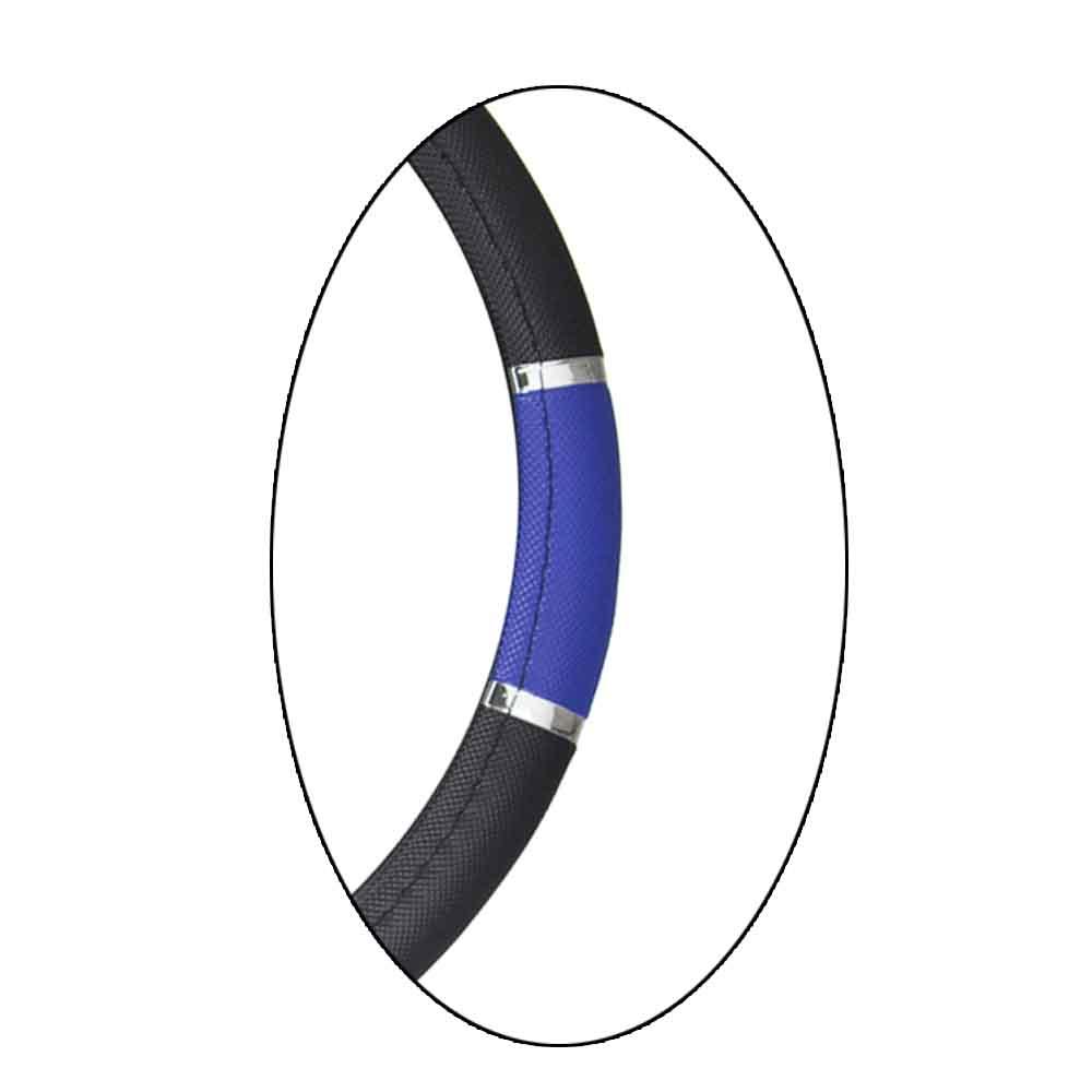 Capa Protetora Volante Sport Preta - Azul com Anel Cromado