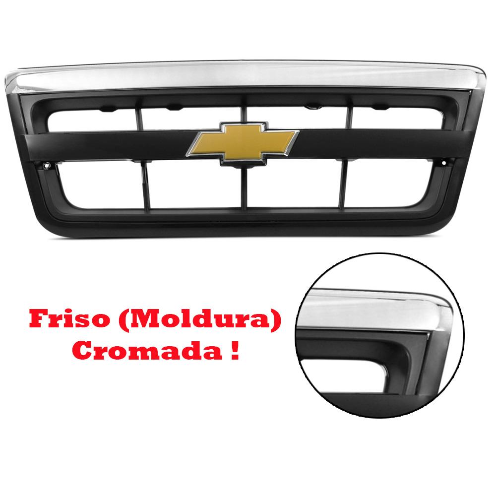 Grade S10 Blazer 2010 2011 Completa com Friso Cromado - Emblema