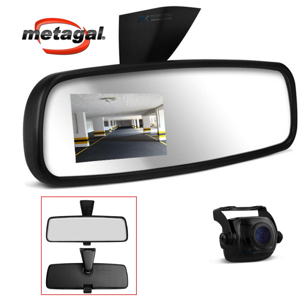 Retrovisor Interno com Camera de ré Gol Voyage Saveiro Fox Spacefox Parati