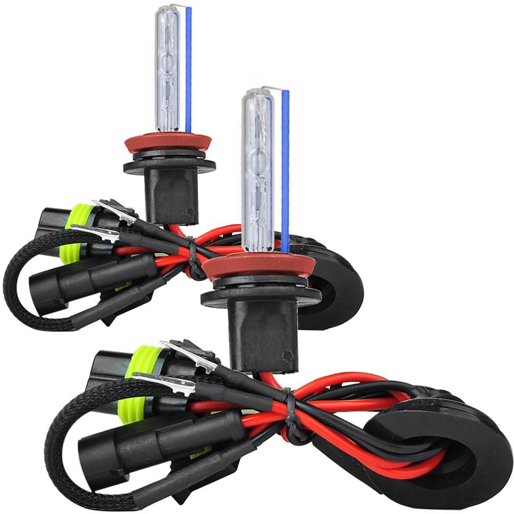 Kit Xenon Lampada 8000K Para Farol Alto Baixo e Farol Milha Cruze 2011 a 2015