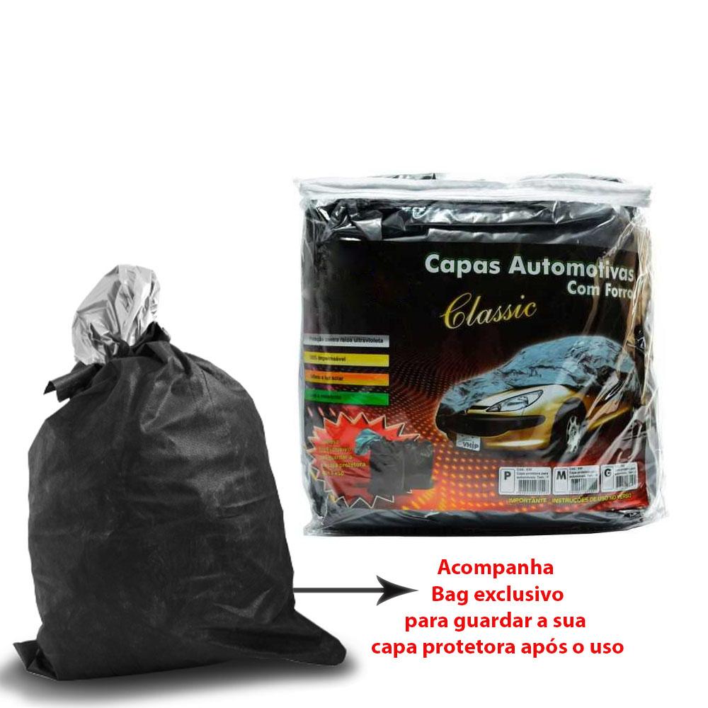 Capa Protetora Universal com Forro 100% Impermeavel para Cobrir Carro - Tamanho P M G