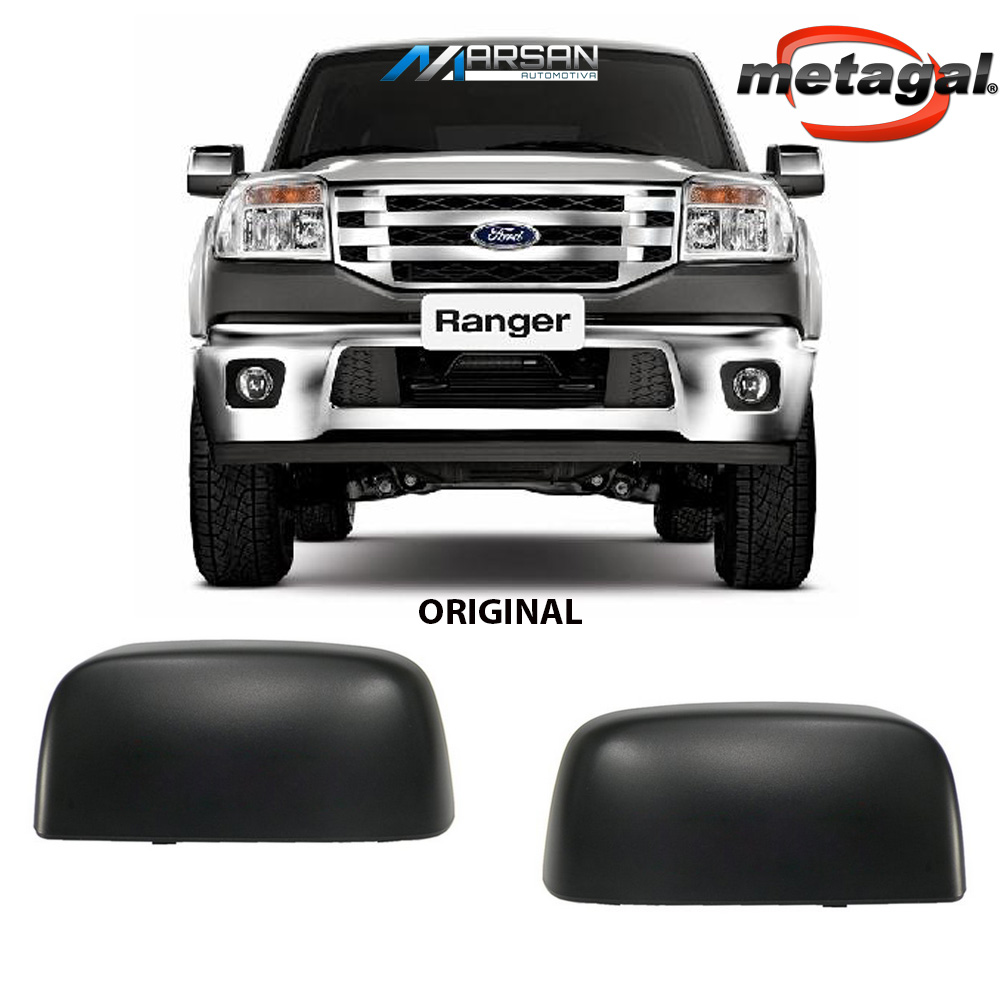 Capa Preta para Espelho Retrovisor Ecosport 2003 a 2012 Ranger 2005 a 2009