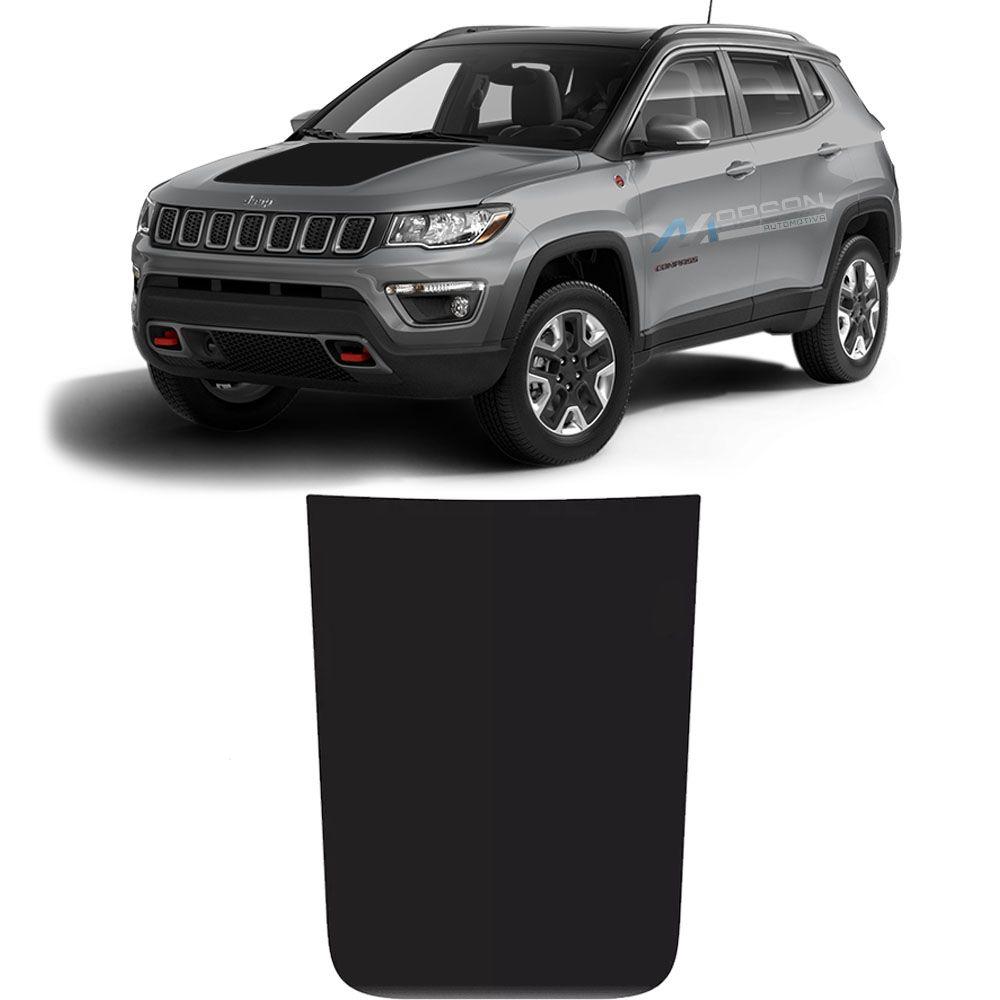 Adesivo Preto Fosco Para Capô Jeep Compass 2016 Até 2020
