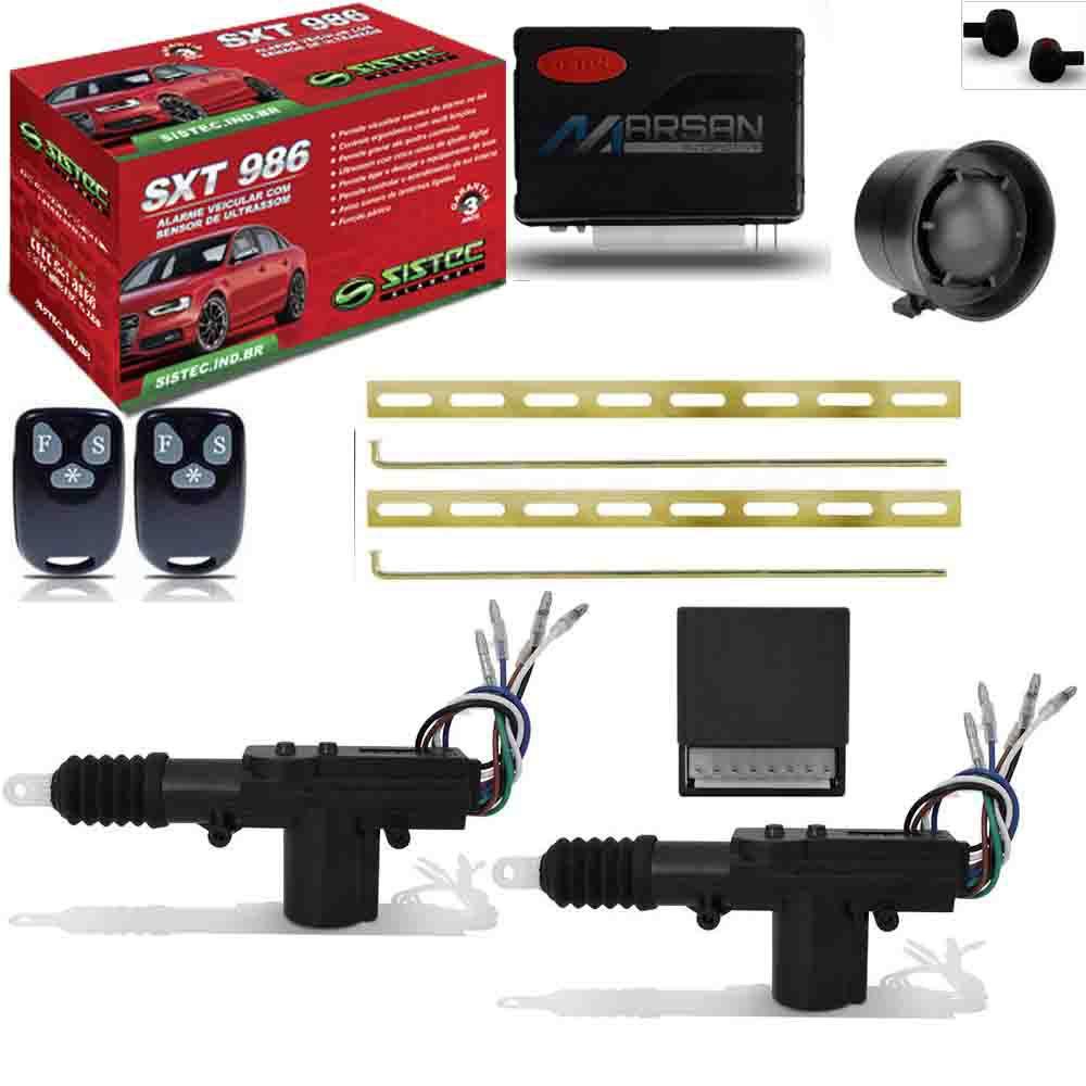 Alarme Automotivo Sistec Sxt 986 + Kit Trava Elétrica 2 Portas