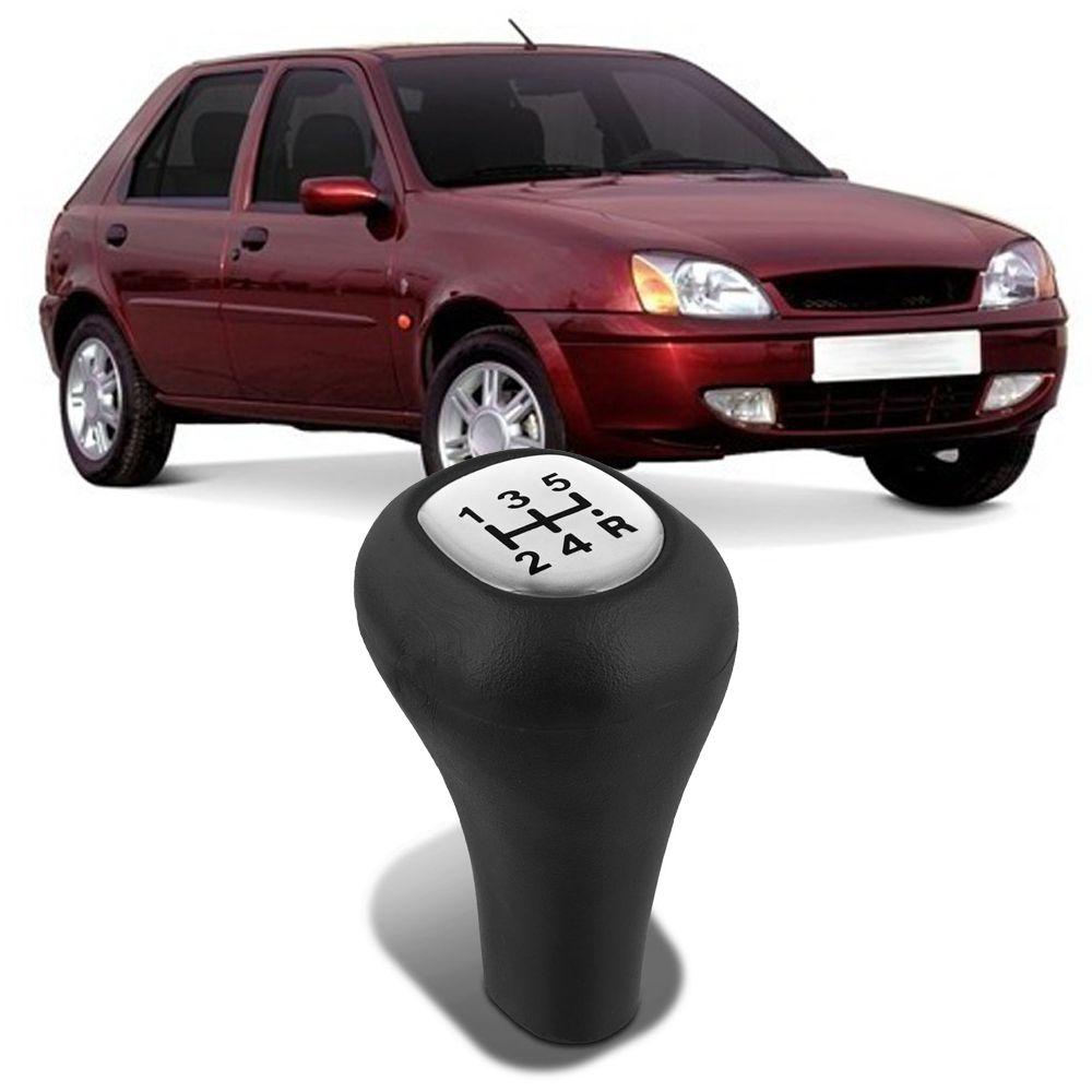 Bola Cambio Preta Lente Resinada Prata Ka 1997 a 2001 Courier 1996 a 2013 Fiesta Hatch 1997 a 2007 Fiesta Sedan 2001 a 2007