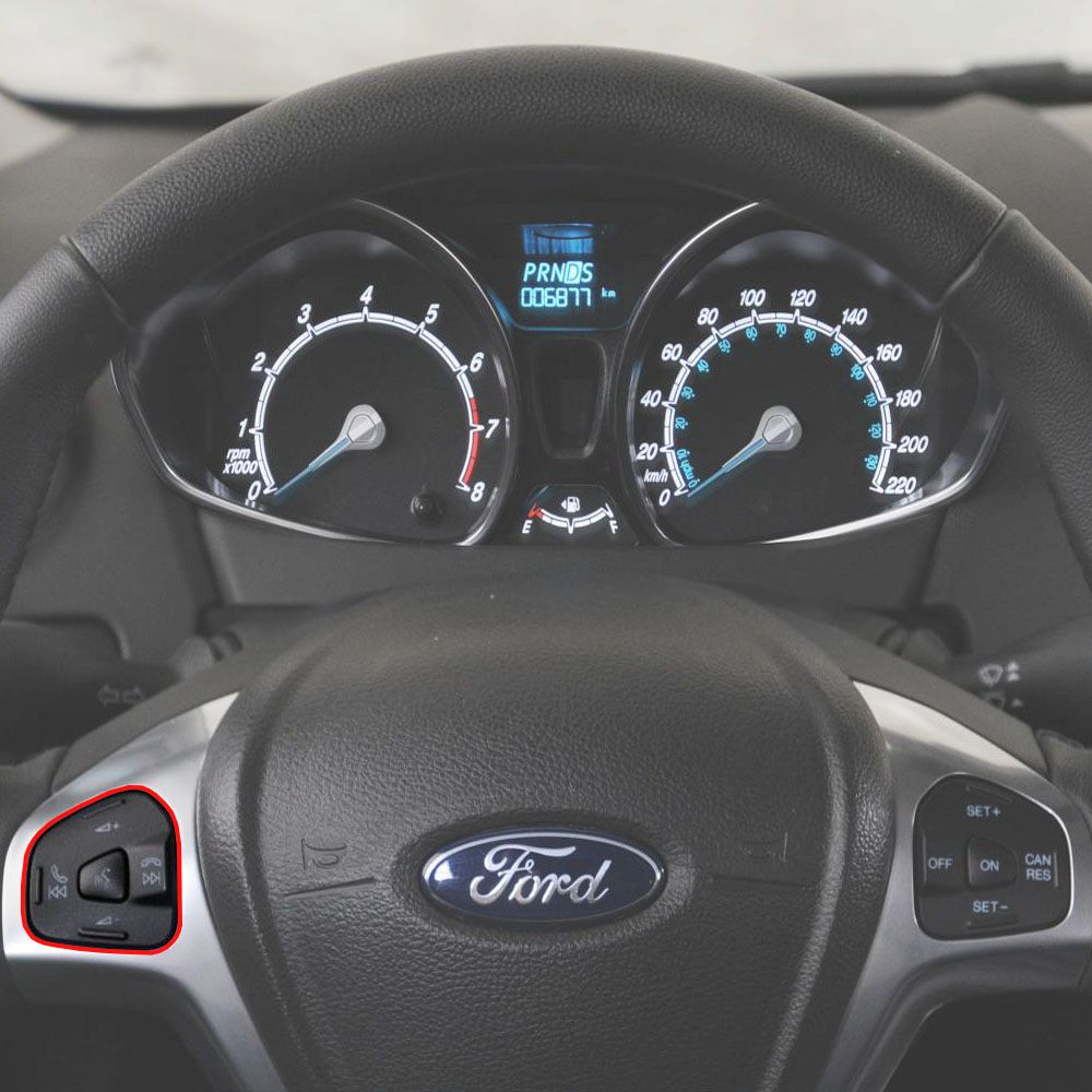 Botão Comando Voz Audio Volante New Fiesta 2013 a 2019 Ecosport 2013 a 2016 Original
