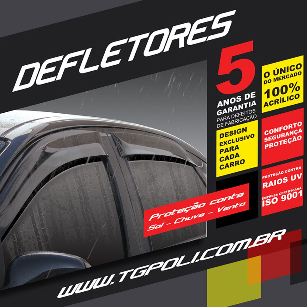Calha De Chuva 206 207 Hatch Sedan 4P 2000 a 2015