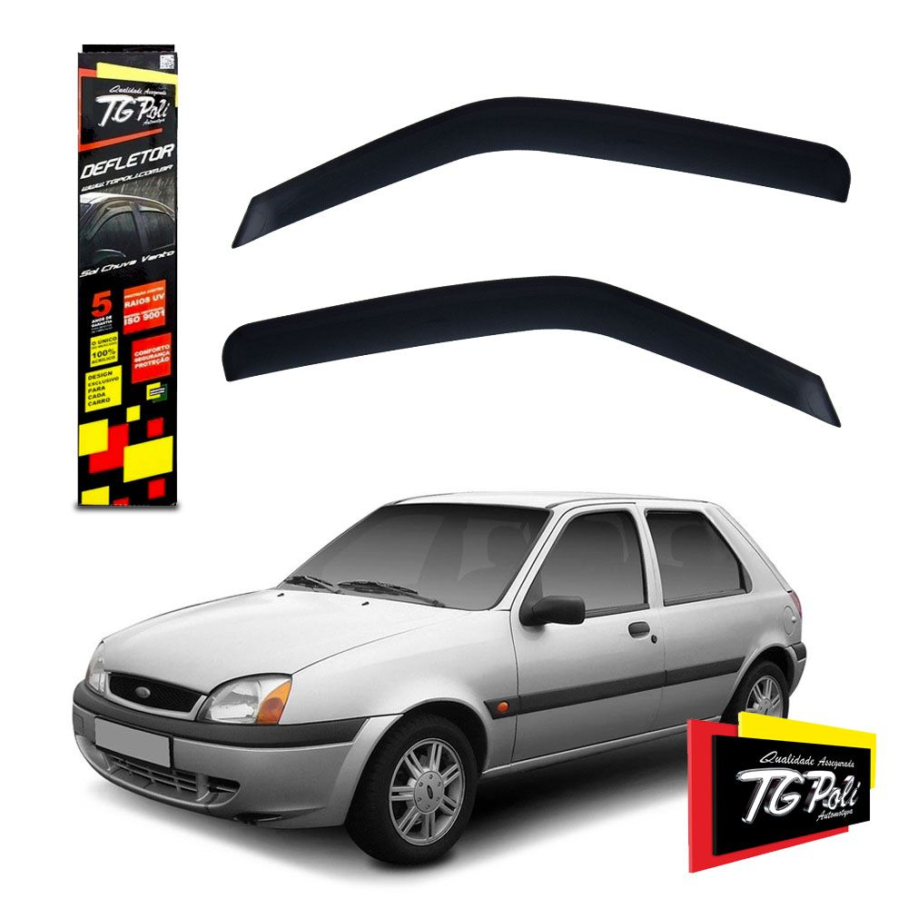 Calha De Chuva Fiesta Hatch 2P 1996 a 2003 Courier 2P 1997 a 2013