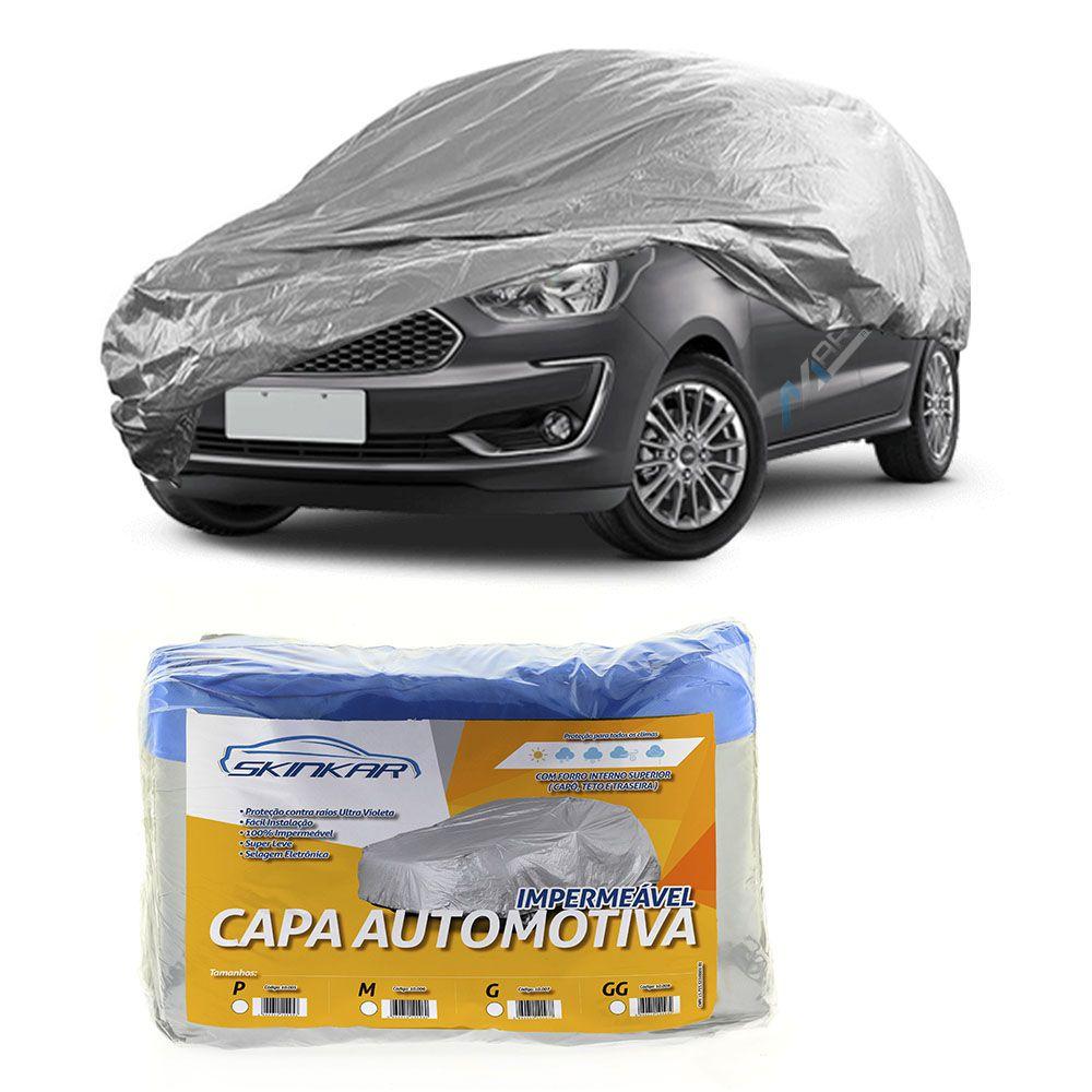 Capa Protetora Ka com Forro 100% Impermeavel para Cobrir Carro