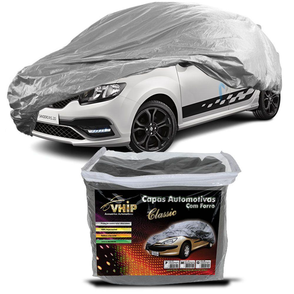 Capa Protetora Sandero com Forro 100% Impermeavel para Cobrir Carro