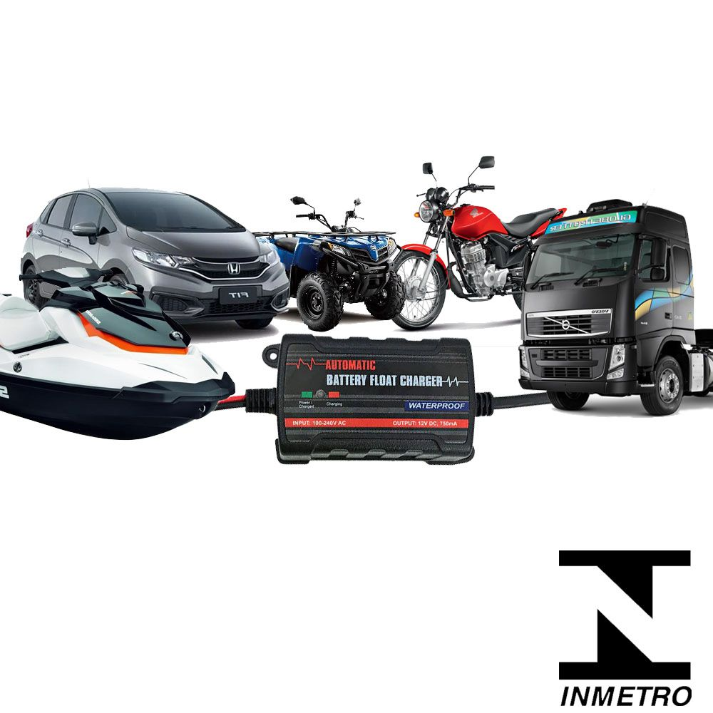 Carregador Bateria Carro 6 V/12 V Poder de Carregamento Rápido Inteligente para Motocicleta Caminhão SUV - TE4-0237