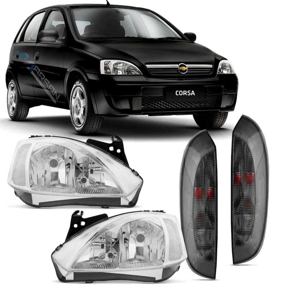 Farol + Lanterna Fume Corsa Joy Maxx Premium SS 2002 A 2012