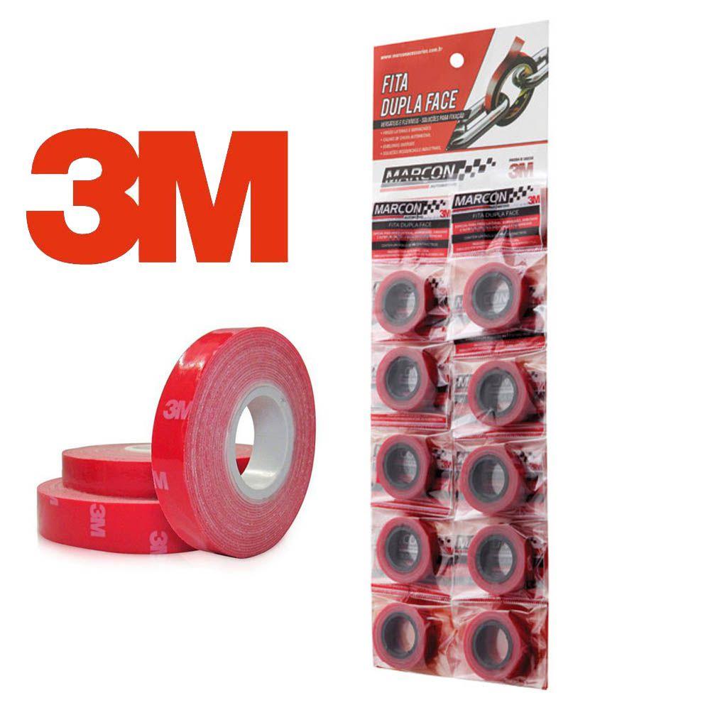 Fita Dupla Face 3m Cartela 10 Unidades 11mm x 0,90 Cm
