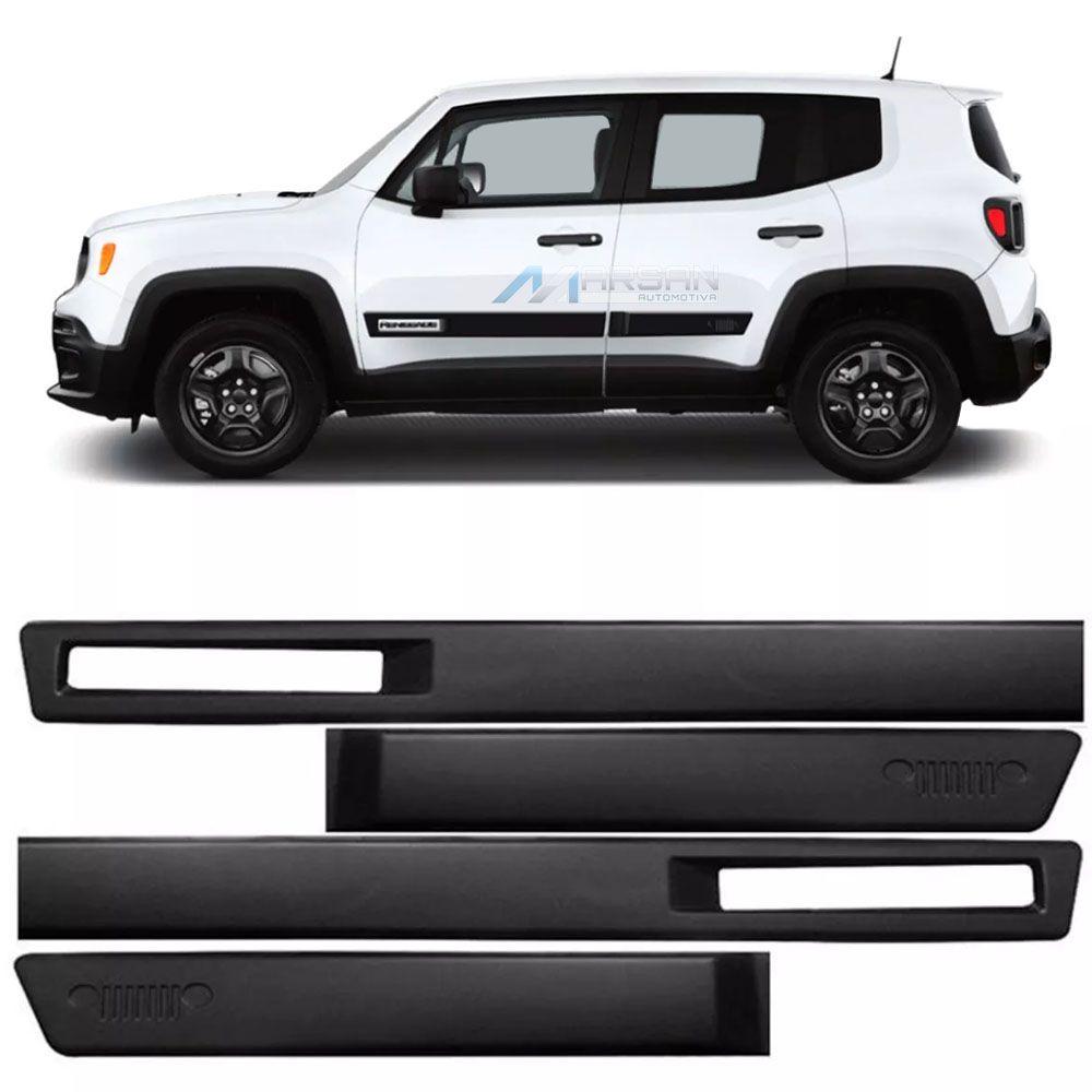 Friso Lateral Preto Jeep Renegade 2015 Até 2021