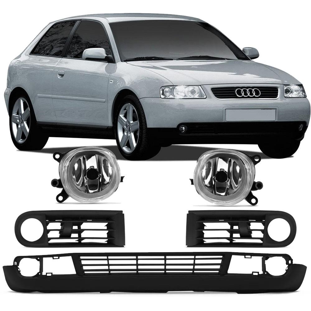 Grade Parachoque + Farol Milha Audi A3 2001 2002 2003 2004 2005 2006