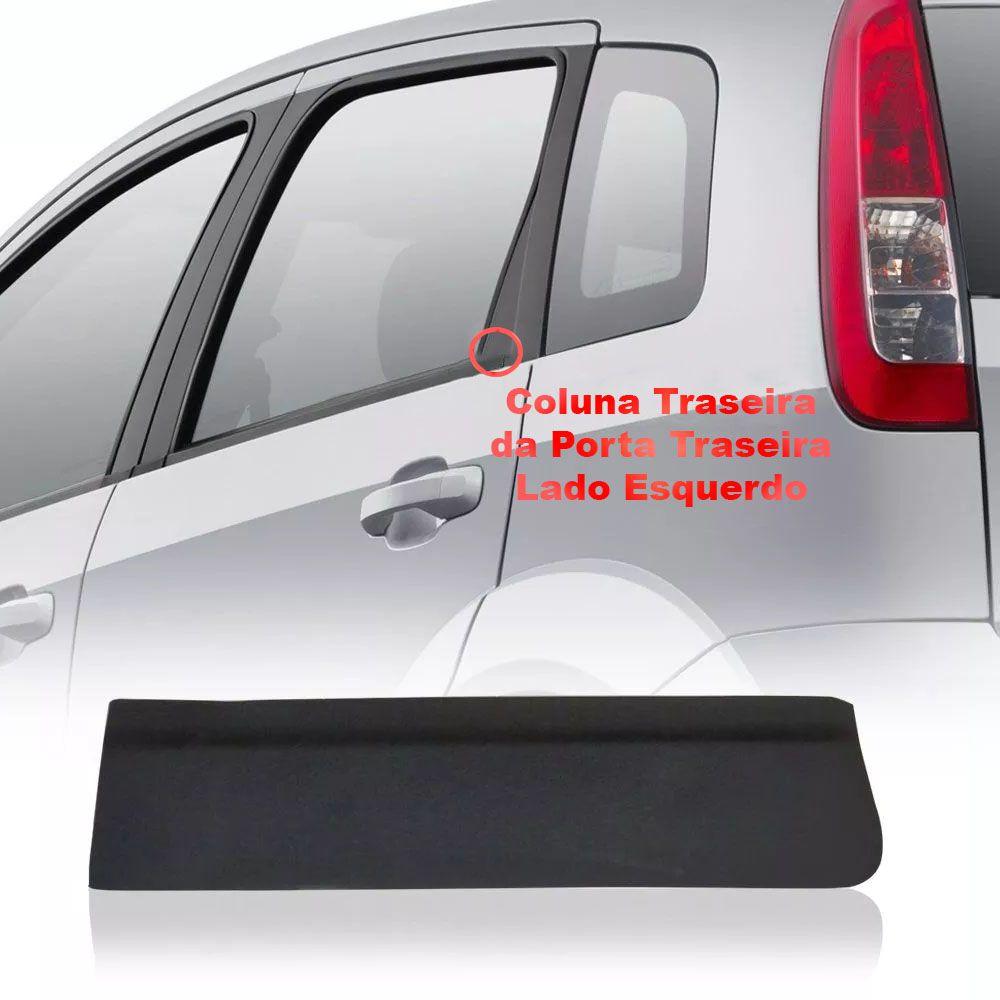 Kit Arremate Plástico Pestana Janela Fiesta Rocam Supercharger 2003 a 2014