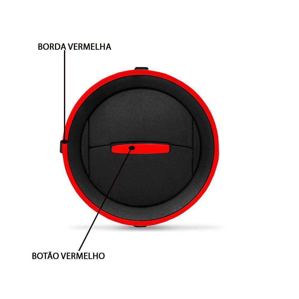Kit Difusor Ar Gol Saveiro G4 G5 G6 Voyage G5 G6 Parati G4 Preto/Vermelho
