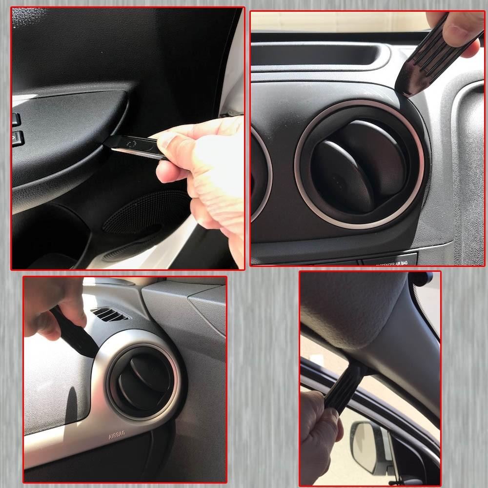 Kit Espatula Nylon para Desmontar Painel Multimidias Molduras Porta de Carros