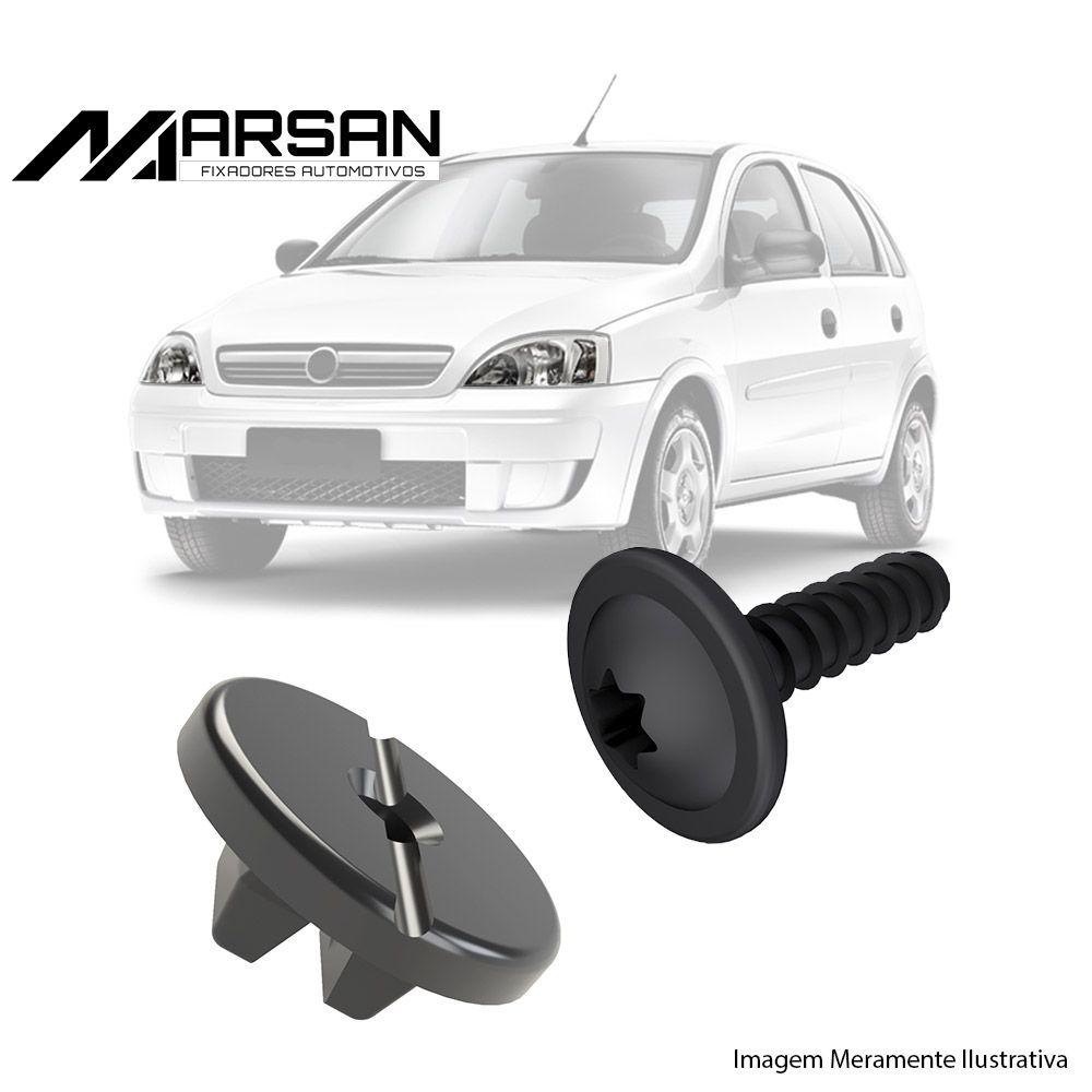 Kit Fixação Bucha Parafuso do Farol Corsa Joy Maxx Premium SS Meriva 2002 a 2012 Montana 2004 a 2011