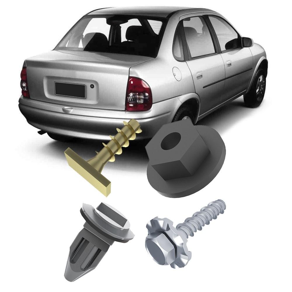Kit Fixação Bucha Parafuso Parachoque Traseiro Corsa Hatch Sedan Wagon Pick-up
