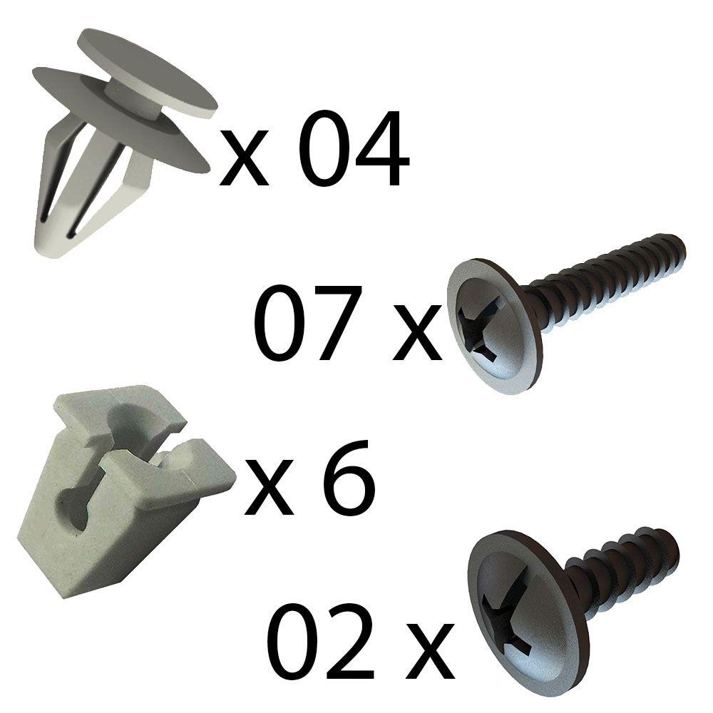 Kit Fixação Grampo Parafuso do Forro da Porta Dianteira Vectra 1997 até 2005