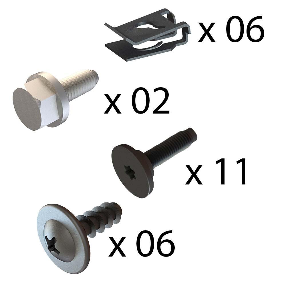 Kit Fixação do Parachoque Dianteiro Marea 1999 a 2007
