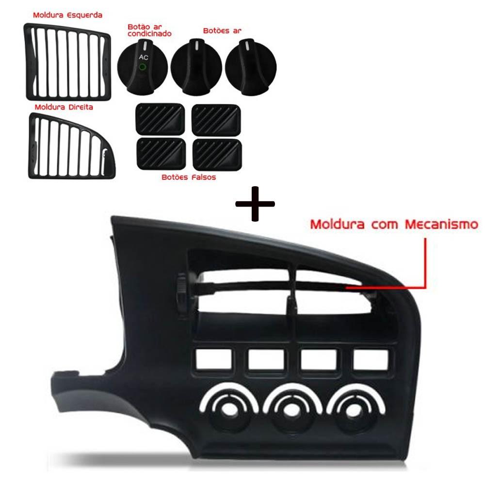 Kit Moldura Central Painel + Difusor + Botão Logus Pointer