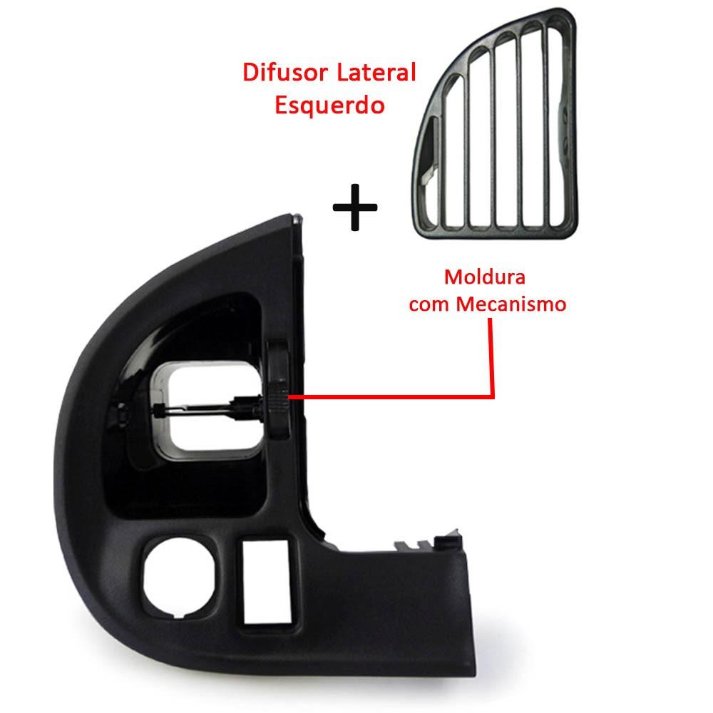 Kit Moldura Lateral + Central + Botão Difusor Logus Pointer
