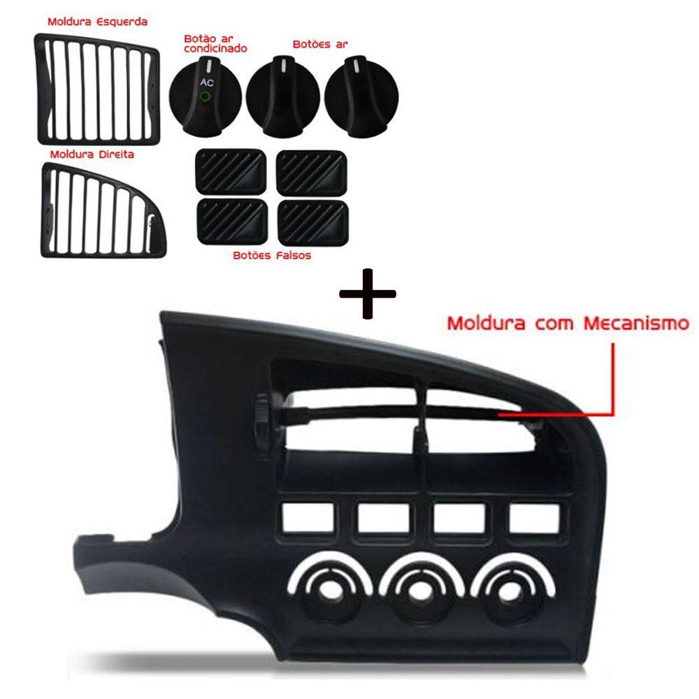 Kit Moldura Lateral + Central + Painel + Botão Difusor Logus Pointer