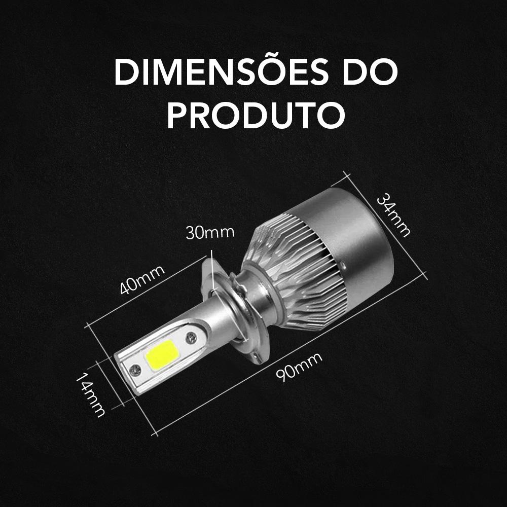 Lâmpada LED Automotiva H4 H7 H11 H3 H1 HB4 H8 HB3 HB5 H13 H16 H27 HB1 6500K