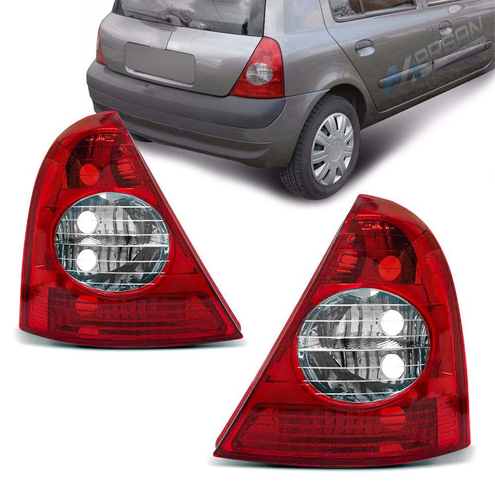 Lanterna Traseira Carcaça Preta Clio Hatch 2003 a 2010