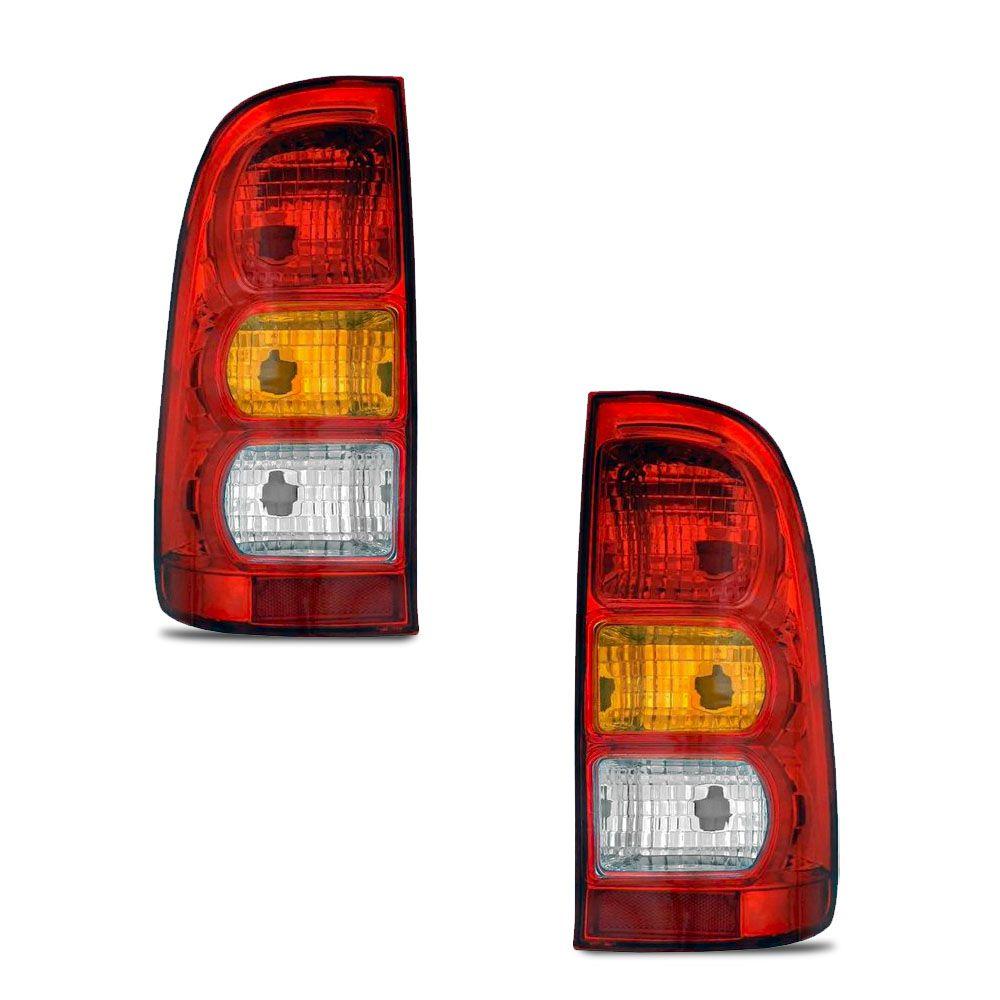 Lanterna Traseira Carcaça Preta Hilux 2005 a 2011