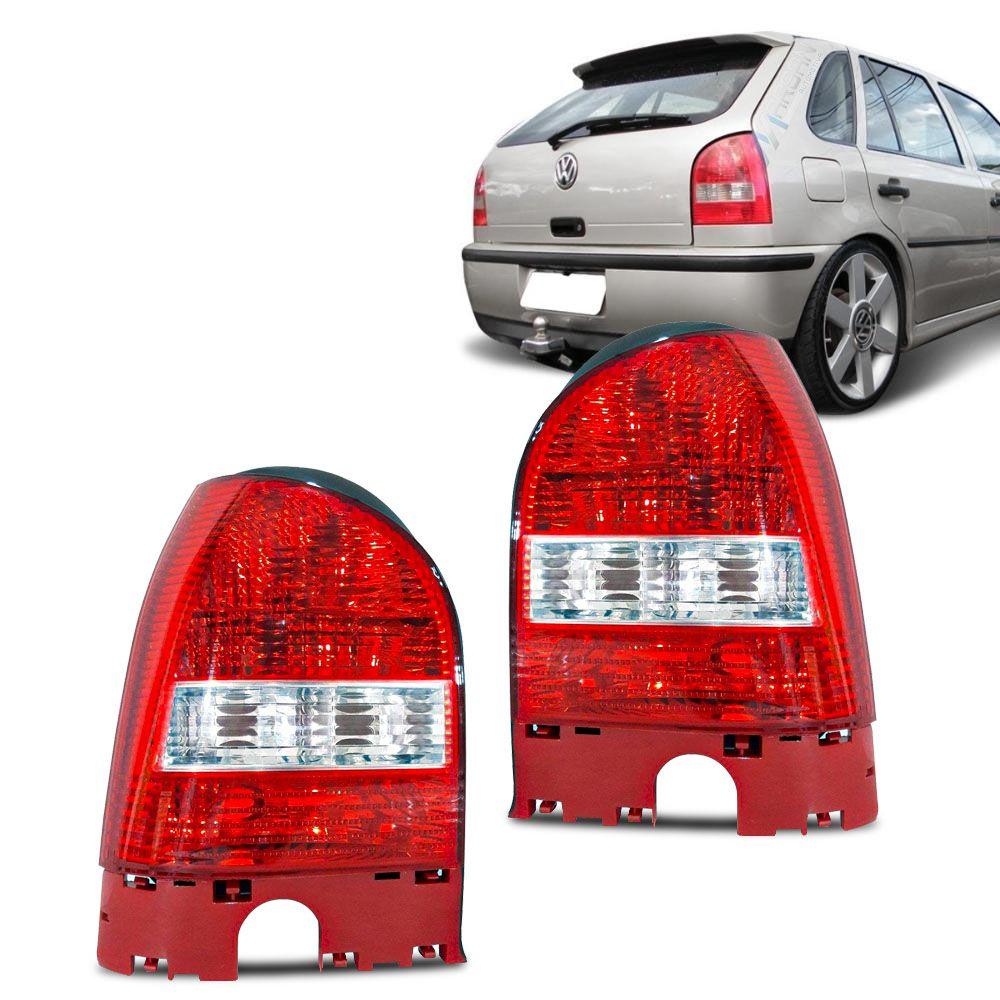 Lanterna Traseira Carcaça Vermelha Gol G3 1999 a 2005
