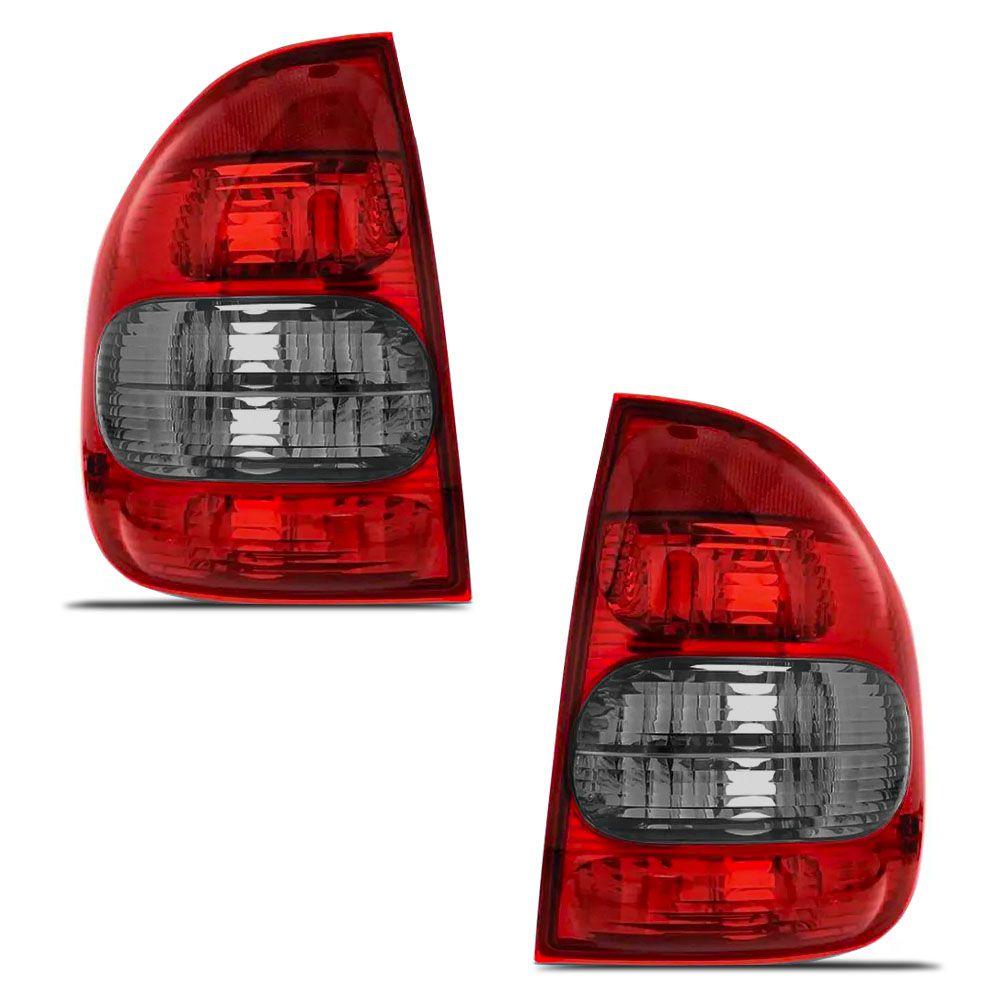 Lanterna Traseira Fume Corsa Sedan 2000 a 2002 Classic 2003 a 2010