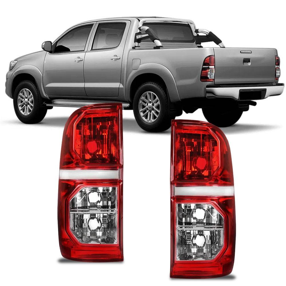 Lanterna Traseira Hilux SRV SR 2012 a 2015 Bicolor Cristal