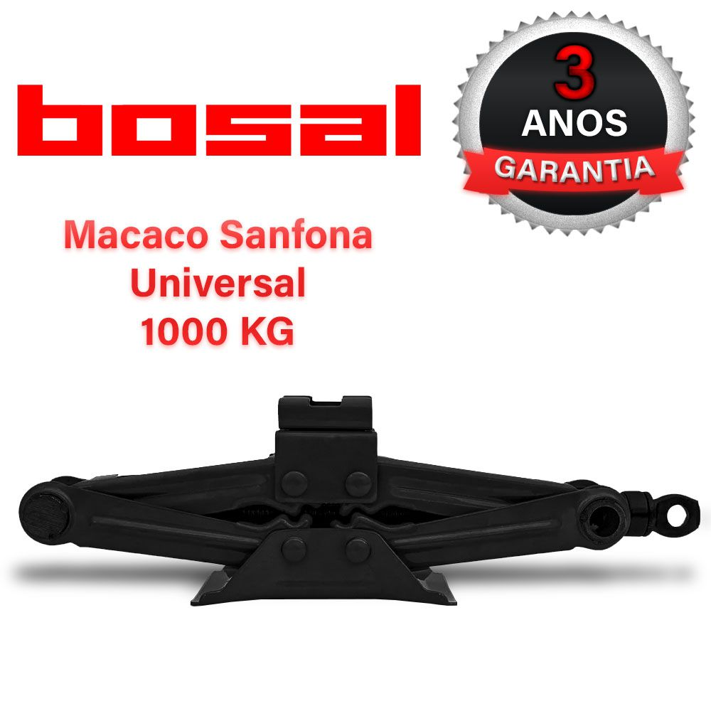 Macaco Sanfona Automotivo Preto 1000 Kg Brava Original