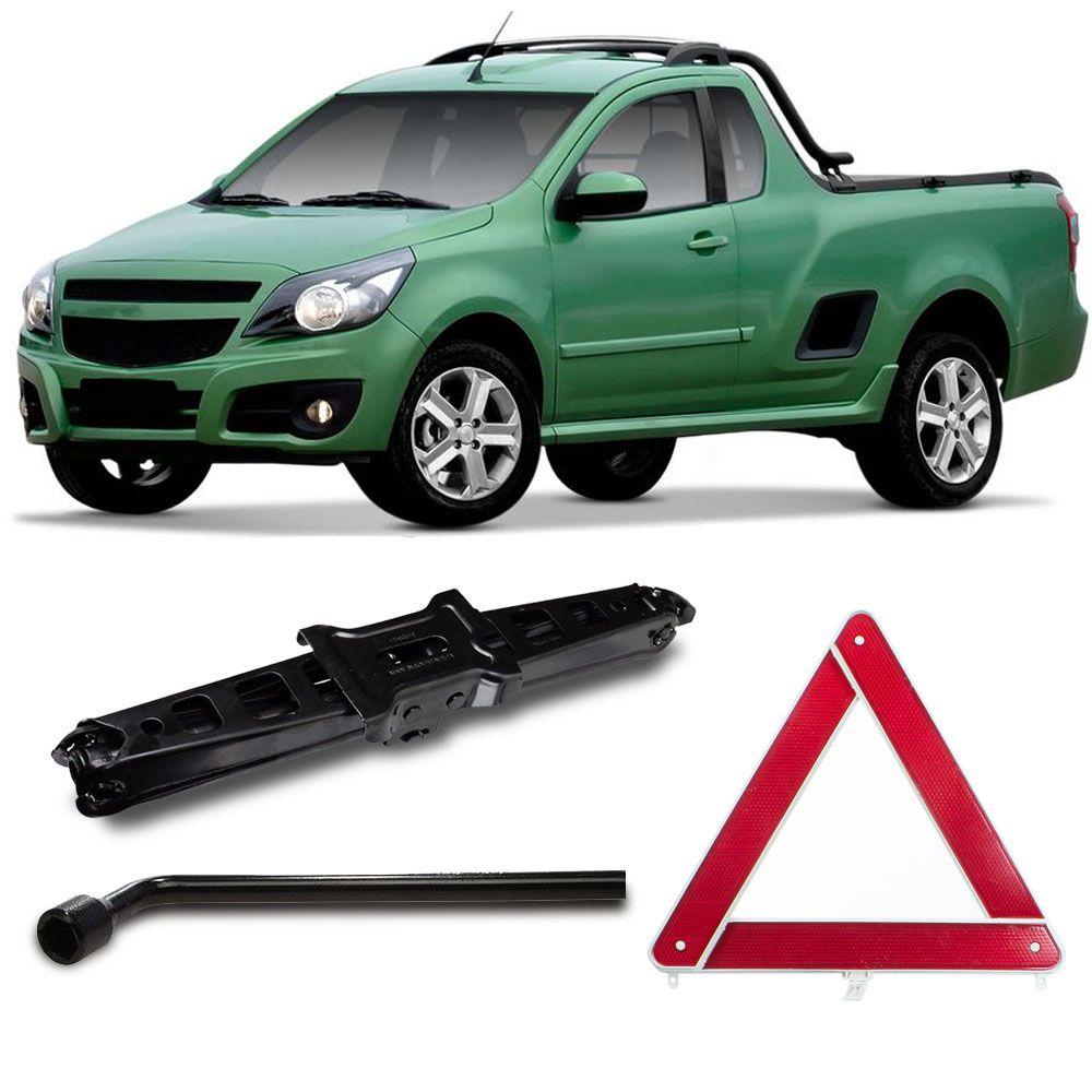 Macaco Sanfona Automotivo Preto 1000 Kg Montana + Chave de Roda e Triangulo Segurança