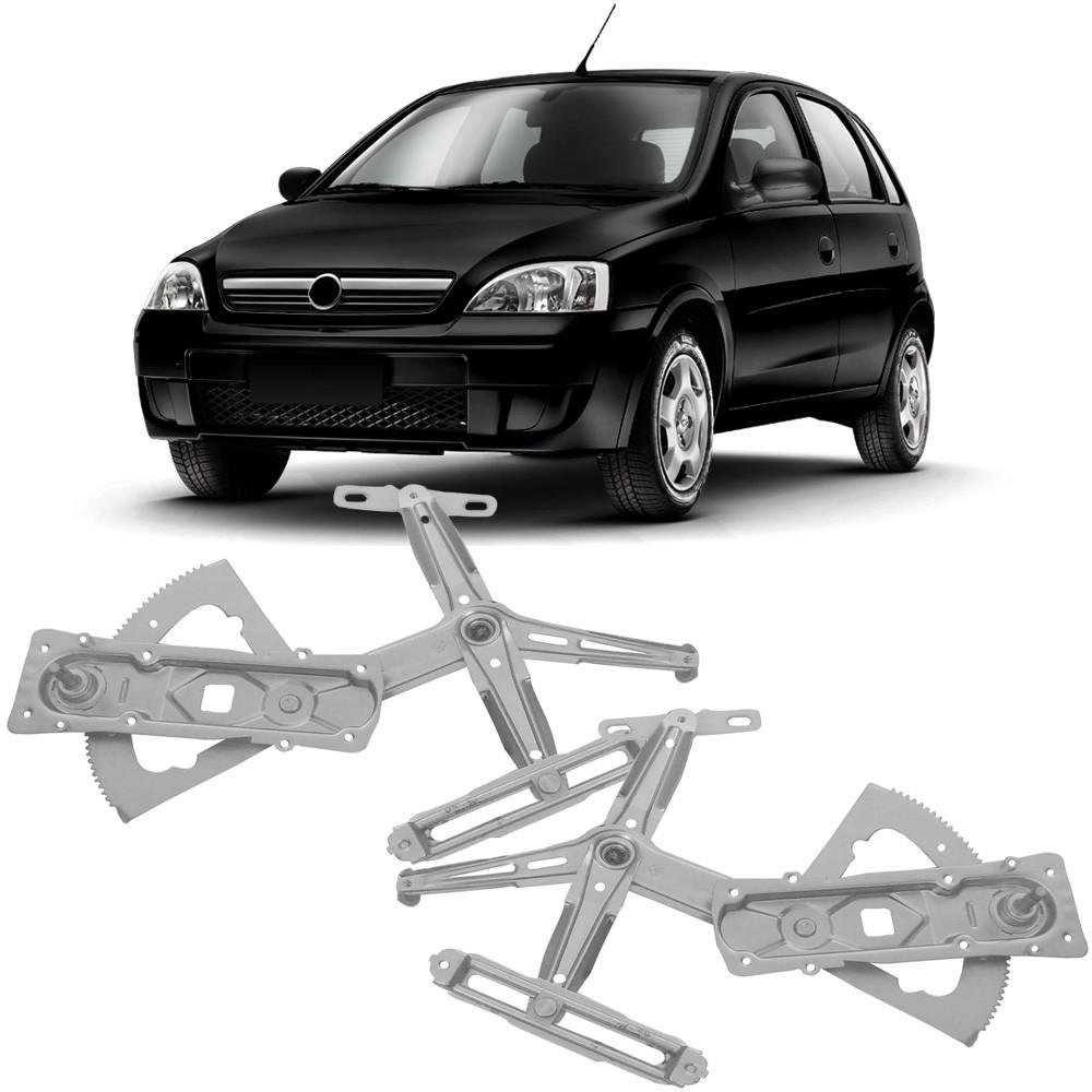 Maquina Vidro Manual Dianteira Corsa Joy Maxx Premium 4 Portas 2002 a 2011 Montana 2002 a 2011