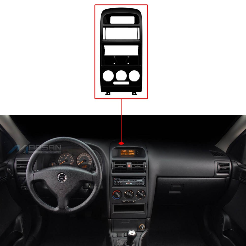 Moldura Painel Radio 1Din Astra Hatch Sedan C/ Ar Analogico