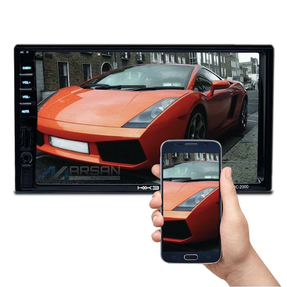 Multimidia MP5 7 Polegadas C/ Espelhamento IOS Android