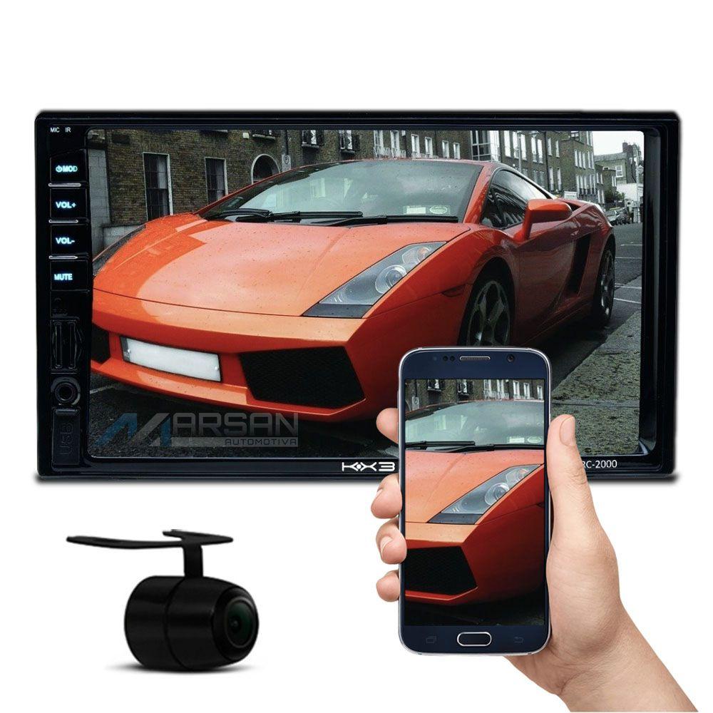 Multimidia MP5 7 Polegadas C/ Espelhamento IOS Android + Camera Ré