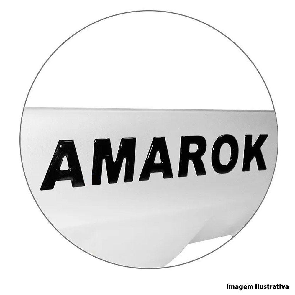 Overbumper Front Bumper Com Furo Amarok 2010 a 2016 Preto com Prata