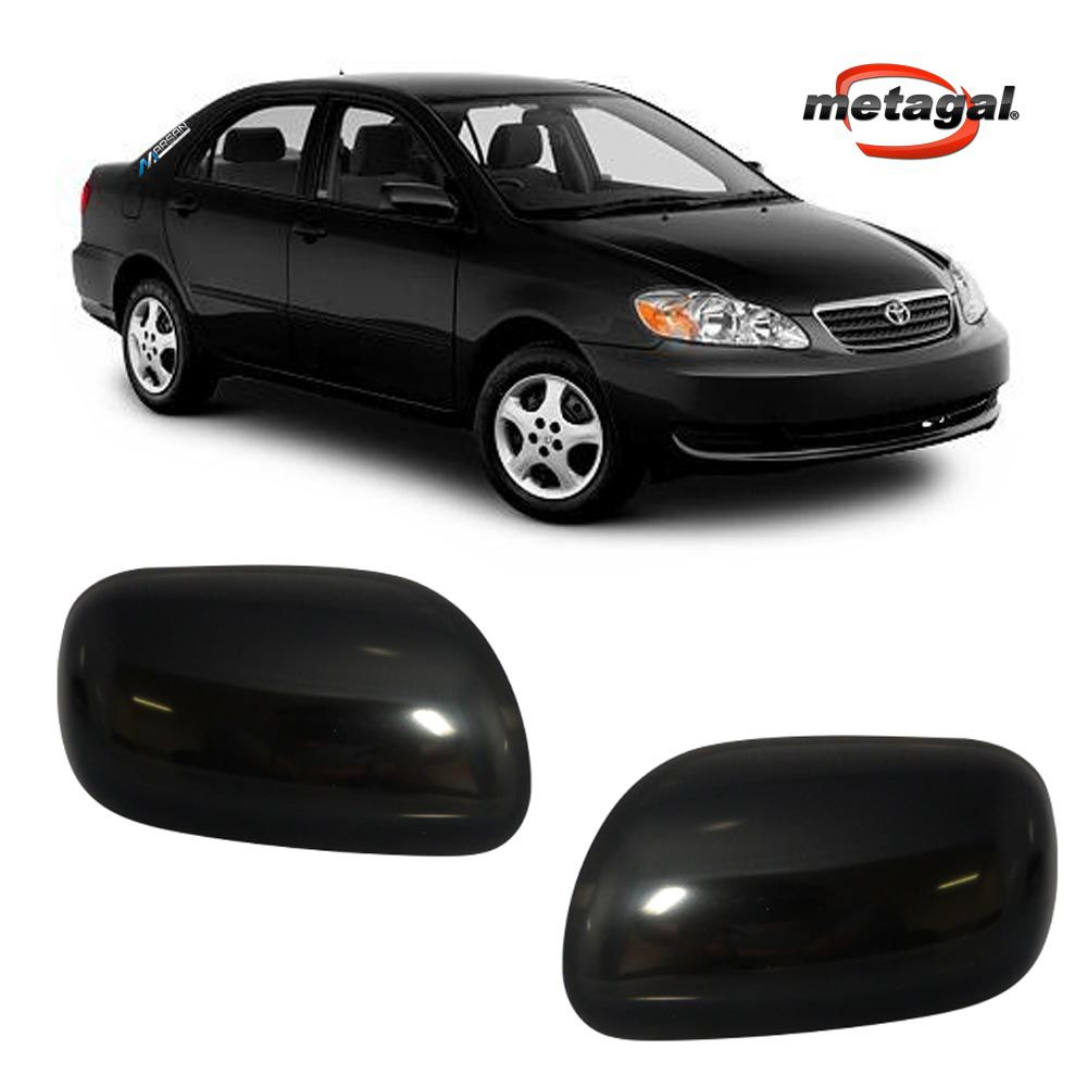 Par Capa Espelho Retrovisor Corolla 2002 a 2008 Fielder 2005 a 2008