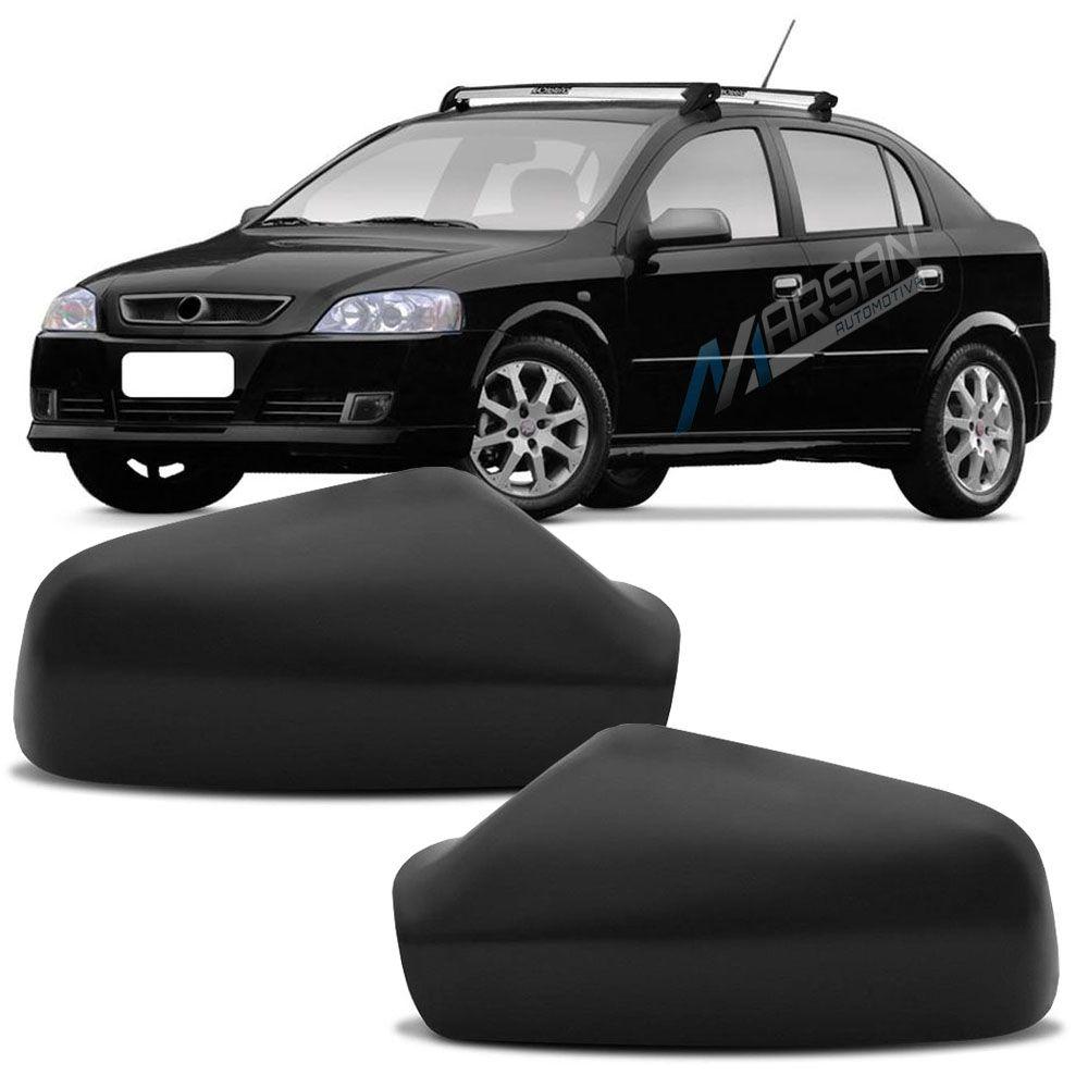 Par Capa Preta para Espelho Retrovisor Astra Hatch Sedan 1999 a 2012