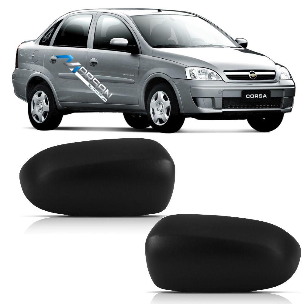 Par Capa Retrovisor Corsa Hatch - Sedan - 2003 a 2012 Montana 2003 a 2010