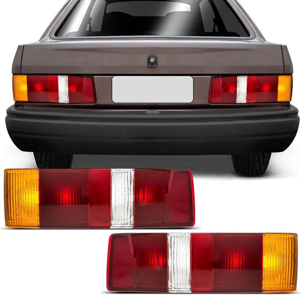 Par Lanterna Traseira Carcaça Preta Escort 1987 a 1992 Hobby 1993 a 1996