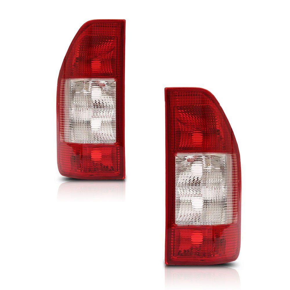 Par Lanterna Traseira Carcaça Vermelha Sprinter 2003 a 2011