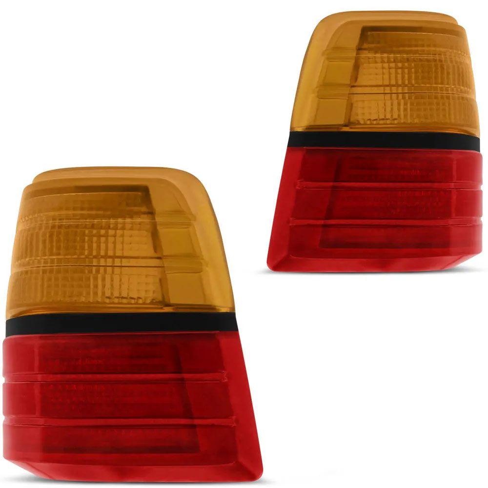 Par - Lanterna Traseira Del Rey 1985 a 1991 Tricolor